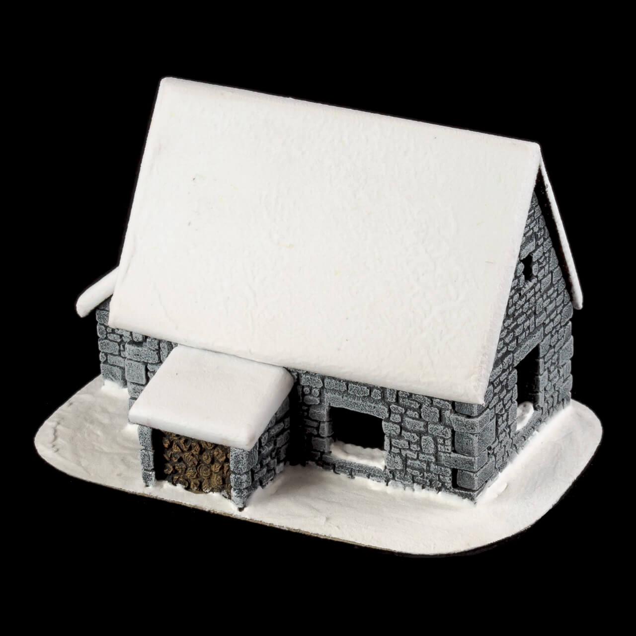 1. Produktabbildung - Schneebedecktes Steinhaus 3
