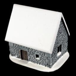 1. Produktabbildung - Schneebedecktes Steinhaus 4