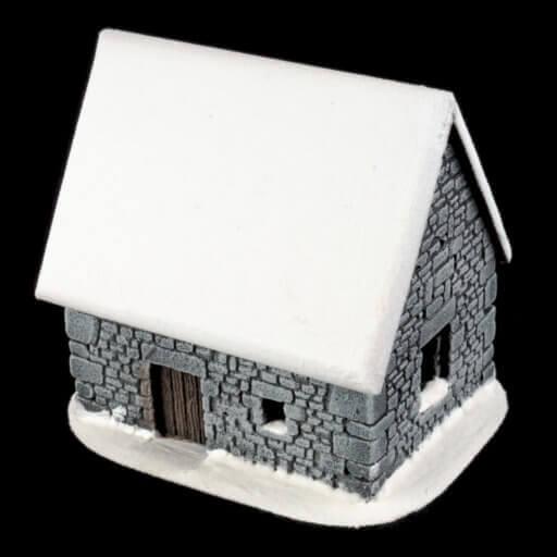 Schneebedecktes Steinhaus 4