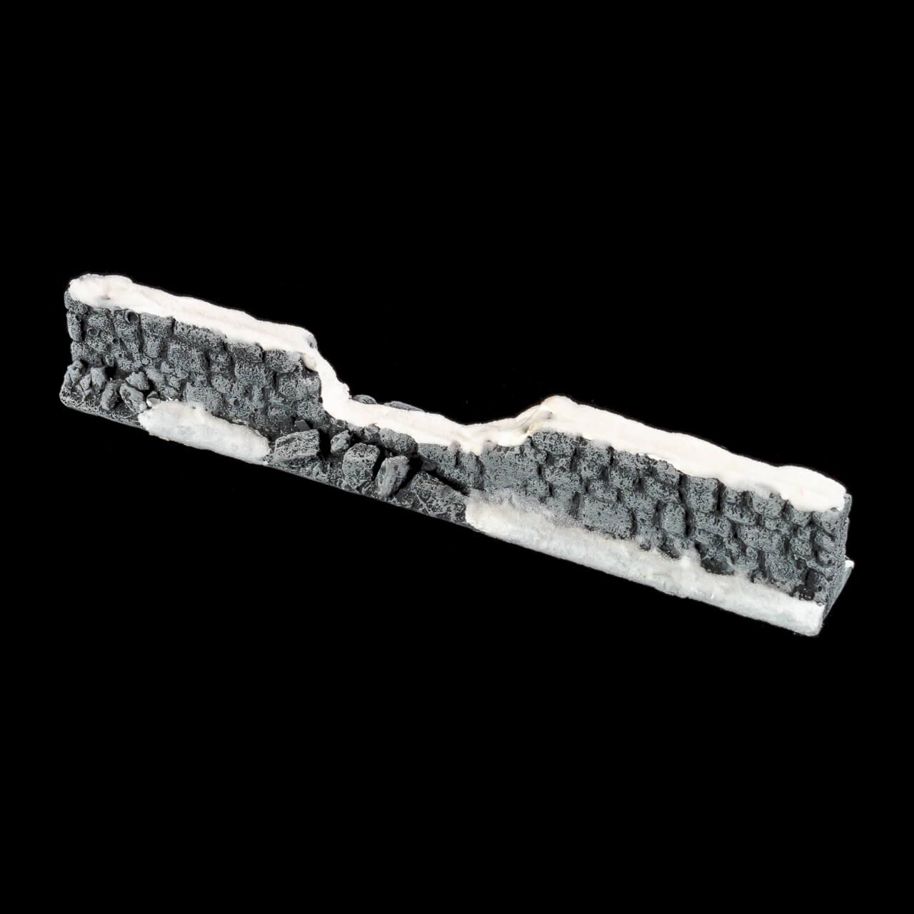 1. Produktabbildung - Schneebedeckte Steinmauer 2