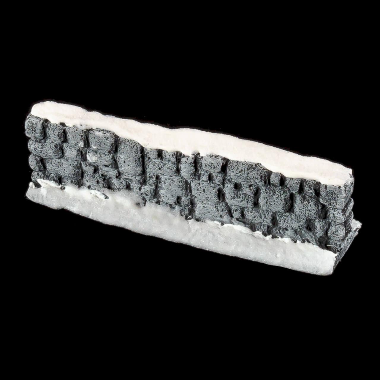 1. Produktabbildung - Schneebedeckte Steinmauer 3