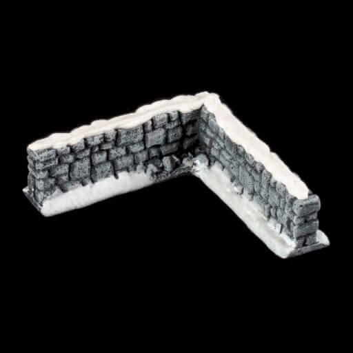 Schneebedeckte Steinmauer 4