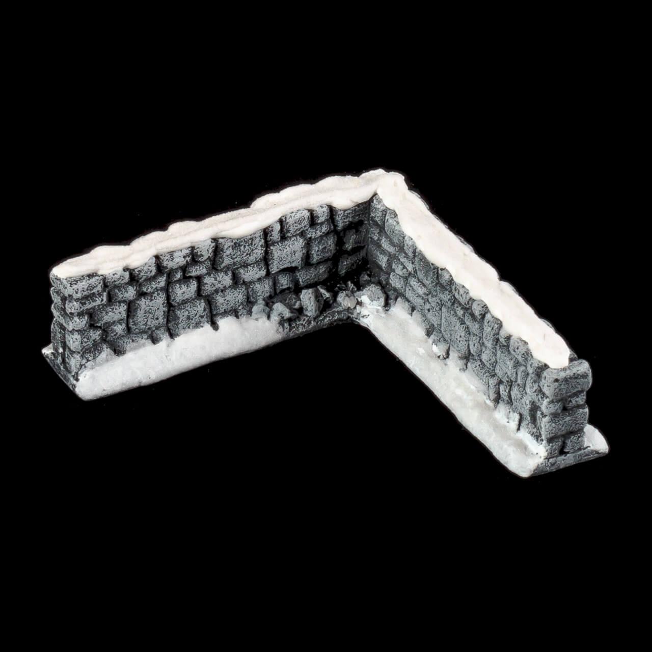 1. Produktabbildung - Schneebedeckte Steinmauer 4